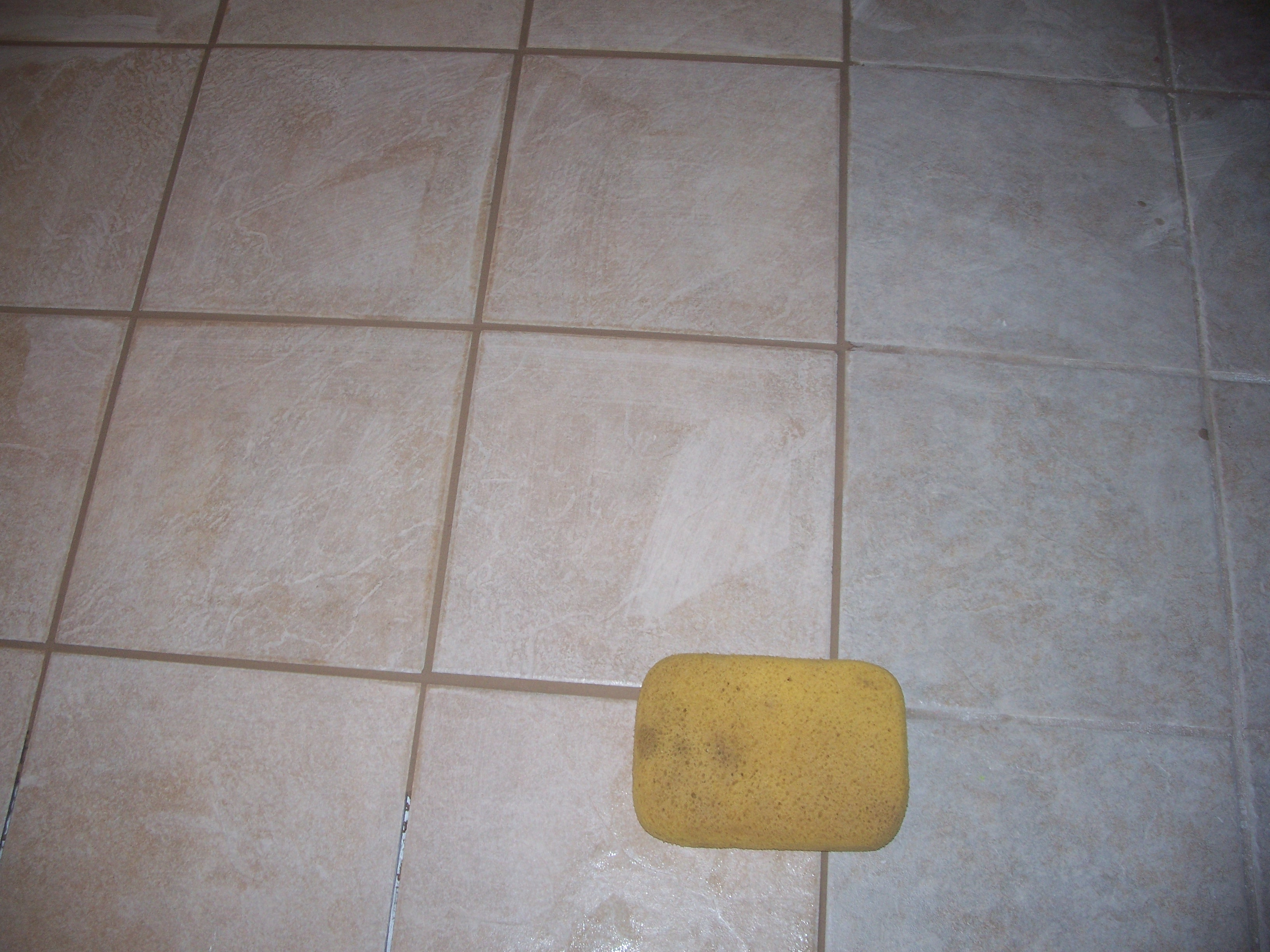 DIY Grouting Ceramic Tile DIY With Kathy - Cleaning dried grout off tile